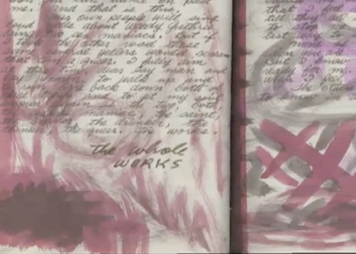 "Screenshot of Woody's Journal taken from ""The Making of The Works,"" album with music by Jonatha Brooke and lyrics by Woody Guthrie (click for video)"