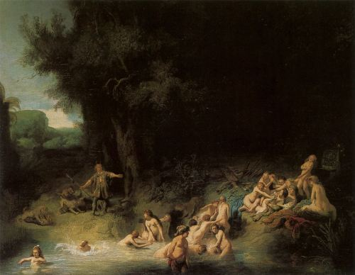 Diana bathing with her nymphs, Rembrandt