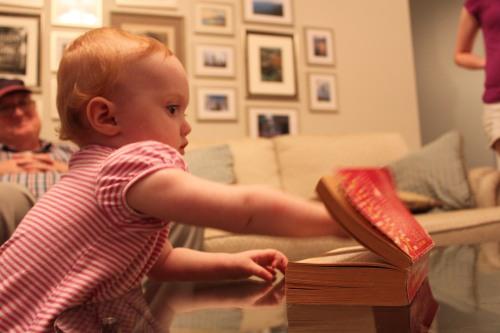Ellie's first bibliomanced word: escutcheon!