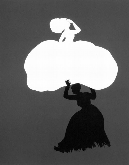 "Kara Walker silhouette from "" Emancipating the Past: Kara Walker's Tales of Slavery and Power"""